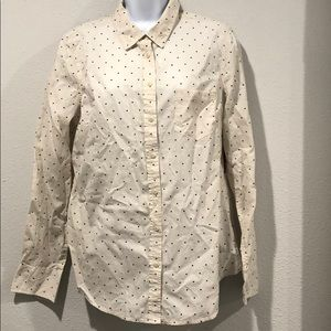 NWT Polka Dot button down blouse by Merona